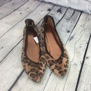 b3ba350e7cc ❤JCPenney Pointed Toe animal print flats size 9